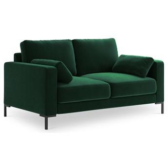 Sofa 2-os. Jade 158 cm butelkowa zieleń