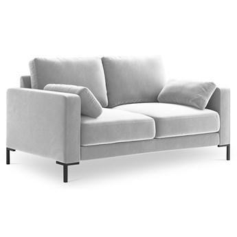 Sofa 2-os. Jade 158 cm srebrna