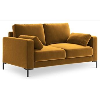 Sofa 2-os. Jade 158 cm złota