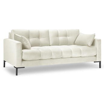 Sofa 2-os. Mamaia 152 cm jasnobeżowa nogi złote