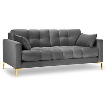 Sofa 2-os. Mamaia 152 cm szara nogi złote