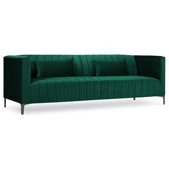 Sofa 3-os. Annite 220 cm butelkowa zieleń