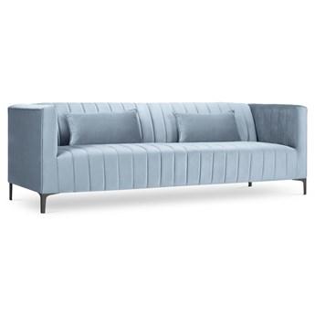 Sofa 3-os. Annite 220 cm jasnoniebieska