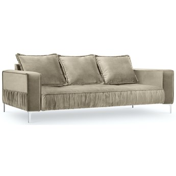 Sofa 3-os. Jardanite 216 cm beżowa nogi srebrne