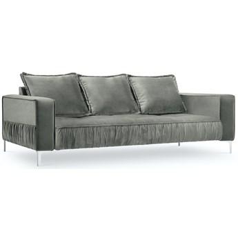 Sofa 3-os. Jardanite 216 cm jasnoszara nogi srebrne