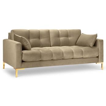 Sofa 3-os. Mamaia 177 cm beżowa nogi złote