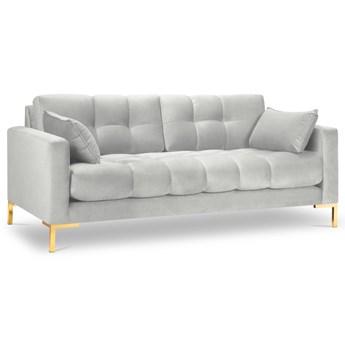 Sofa 3-os. Mamaia 177 cm srebrna nogi złote