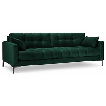 Sofa 4-os. Mamaia 217 cm butelkowa zieleń nogi czarne