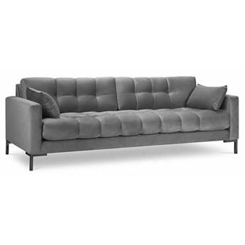 Sofa 4-os. Mamaia 217 cm szara nogi czarne