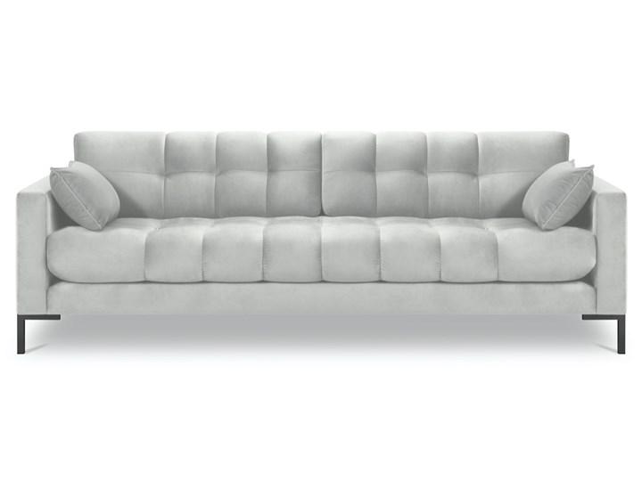 Sofa 4-os. Mamaia 217 cm srebrna Typ Pikowane Głębokość 40 cm Materiał obicia Welur