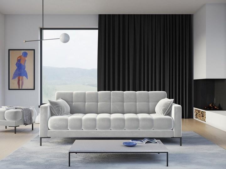 Sofa 4-os. Mamaia 217 cm srebrna Głębokość 40 cm Kolor Srebrny