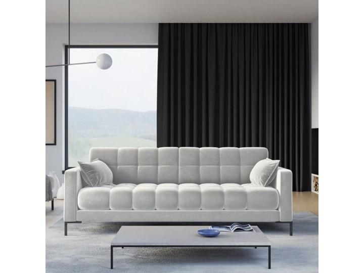 Sofa 4-os. Mamaia 217 cm srebrna Głębokość 40 cm Styl Klasyczny