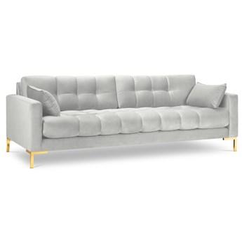 Sofa 4-os. Mamaia srebrna nogi złote