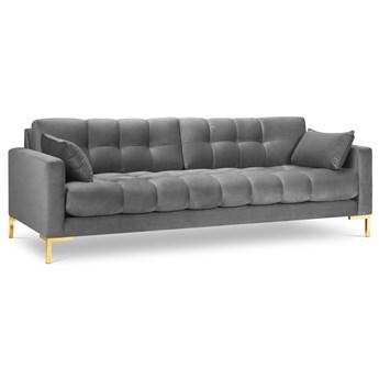 Sofa 4-os. Mamaia 217 cm szara nogi złote