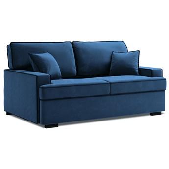 Sofa rozkładana 2-os. Massi 178 cm królewski niebieski-czarny