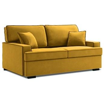 Sofa rozkładana 2-os. Massi 178 cm żółta