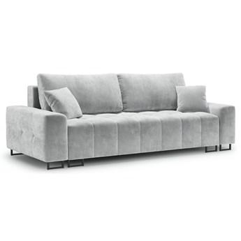 Sofa rozkładana 3-os. Byron 250 cm jasnoszara