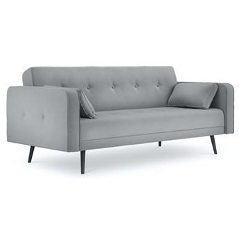Sofa rozkładana 3-os. Jasper 212 cm jasnoszara
