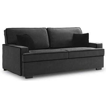 Sofa rozkładana 3-os. Massi 198 cm ciemnoszara-czarna