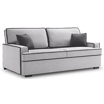 Sofa rozkładana 3-os. Massi 198 cm jasnoszara-czarna