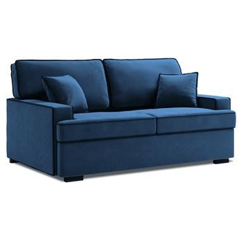 Sofa rozkładana 3-os. Massi 198 cm królewski niebieski-czarny
