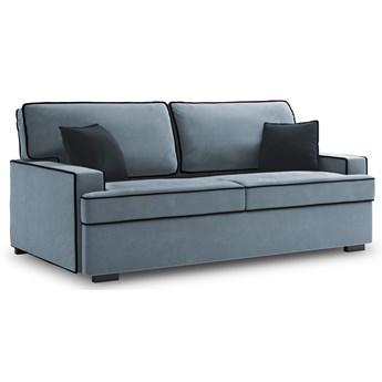 Sofa rozkładana 3-os. Massi 198 cm niebieska-czarna