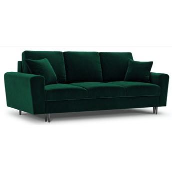 Sofa rozkładana 3-os. Moghan 235 cm butelkowa zieleń nogi czarne
