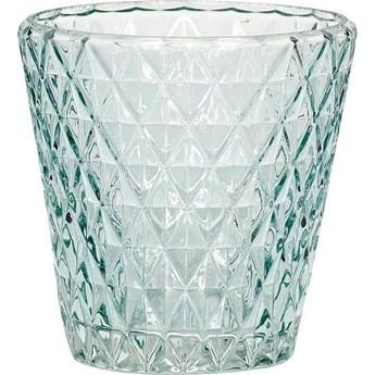 Świecznik Glass 10x10 cm niebieski