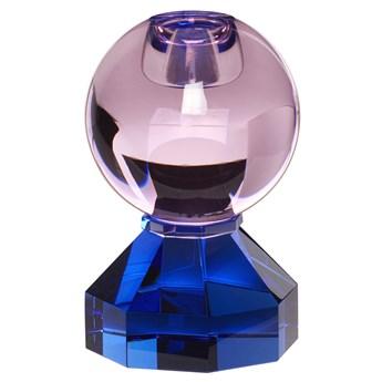 Świecznik Has ∅7x11 cm niebiesko-różowy