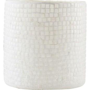 Świecznik na tealighty Brooken 10x10 cm biały