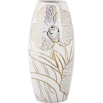 Wazon Handicraft Orchid 14x30 cm biało-złoty