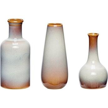 Wazony Ceramic 7x16 cm biało-brązowe