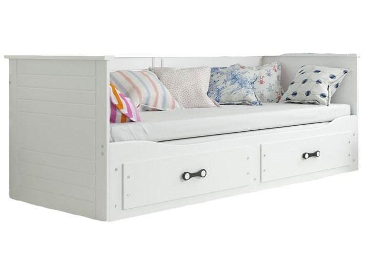Białe rozsuwane łóżko młodzieżowe 80x200 - Aniko Płyta MDF Drewno Płyta meblowa Kolor Biały Rozmiar materaca 80x200 cm