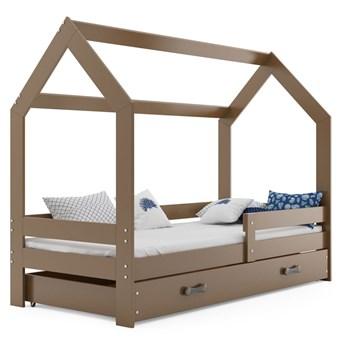 Brązowe łóżko dziecięce domek 80x160 - Bambino