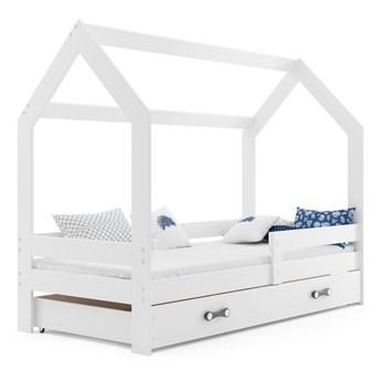 Białe łóżko domek dla dziecka 80x160 - Bambino