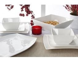 Zestaw talerzy obiadowych WHITE na 6 osób (20 el.) -- biały