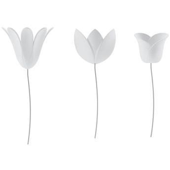 Dekoracje ścienne Bloomer (9-set) 7x16 cm białe
