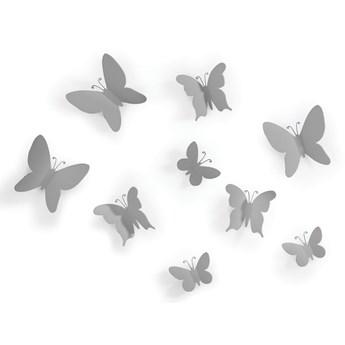 Dekoracje ścienne Mariposa (9-set) szare
