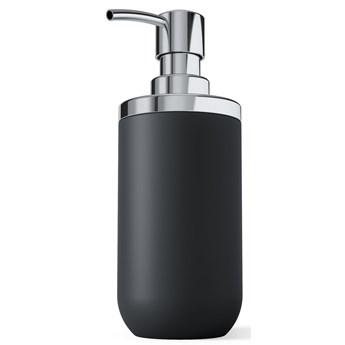 Dozownik na mydło Junip 10x18 cm czarno-srebrny