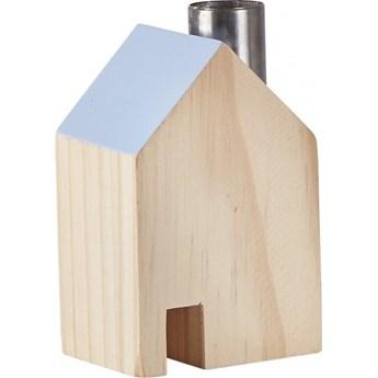 Figurka dekoracyjna House Ligno 7x10 cm drewniano-niebieska