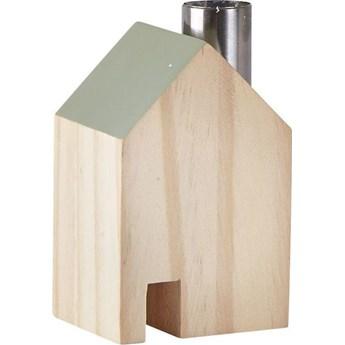 Figurka dekoracyjna House Ligno 7x10 cm drewniano-zielona