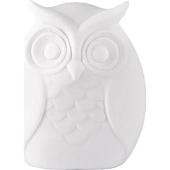 Figurka dekoracyjna Owl Fano 10x10 cm biała