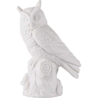 Figurka dekoracyjna Owl Fano 7x10 cm biała