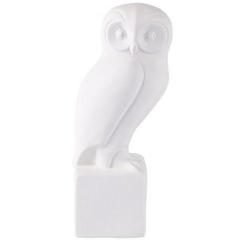 Figurka dekoracyjna Owl Fano 9x22 cm biała
