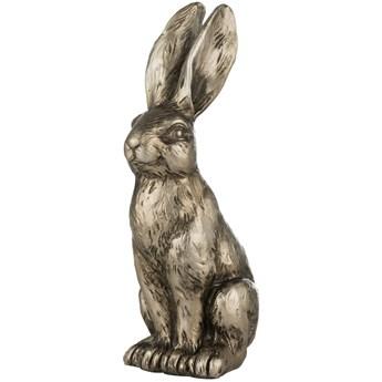 Figurka dekoracyjna Semina Rabbit 6x12 cm złota antyczna