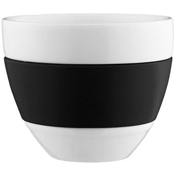 Filiżanka do cafe latte Aroma 300 ml biało-czarna