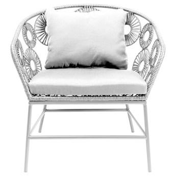 Fotel ogrodowy Ibiza 75x78 cm biały