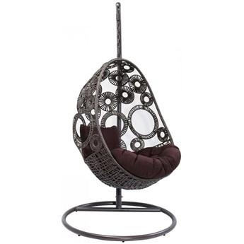 Fotel wiszący Ibiza 104x203 cm brązowy
