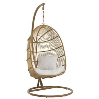 Fotel wiszący ogrodowy Oval 119x193 cm naturalny