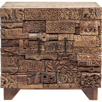 Komoda Shanti Surprise Puzzle mango 90x90 cm drewniana